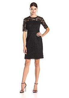 Shoshanna Women's Corded Lace Ray Dress, Jet, 12