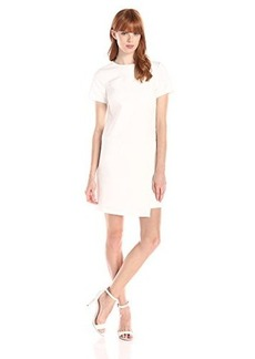 Shoshanna Women's Double Crepe Lara Dress, Ivory, 10