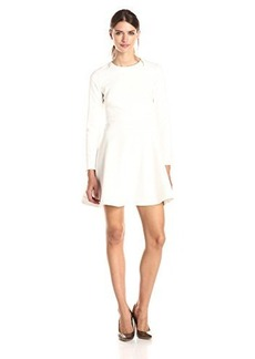 Shoshanna Women's Double Crepe Rio Dress, Ivory, 8