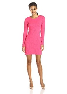 Shoshanna Women's Embossed Knit Brooklyn Dress, Coral, 0