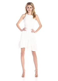 Shoshanna Women's Ethel Crepe Ruffled Hem Dress