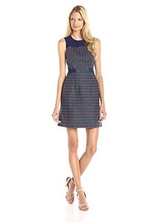 Shoshanna Women's Fannon Striped Jacquard Dress, Ink Multi, 0