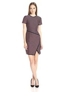 Shoshanna Women's Graphic Plaid Jacquard Sicily Dress, Navy Multi, 0