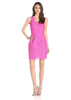 Shoshanna Women's Pamela Lace V-Neck Sheath Dress