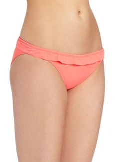 Shoshanna Women's Solid Ruffle Brief