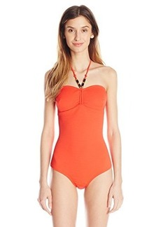 Shoshanna Women's Textured Cinched One Piece Swimsuit