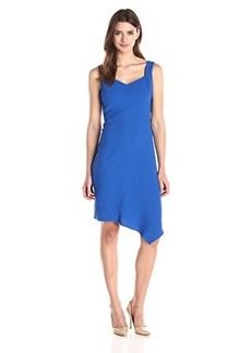Shoshanna Women's Textured Stretch Crepe Krystal Dress, Lapis, 4