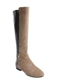 Sigerson Morrison black and brown leather 'Pearl' zip up boots