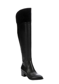 Sigerson Morrison black leather and suede 'Solly' over-the-knee boots