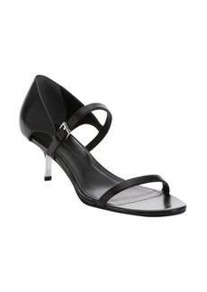 Sigerson Morrison black leather 'Seanna' strappy kitten heel sandals