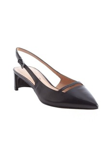 Sigerson Morrison black leather slingback pumps