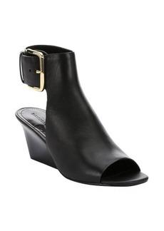 Sigerson Morrison black leather 'Yva' open toe clogs