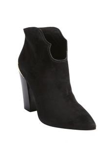 Sigerson Morrison black suede 'Vesta' gold plate heel booties