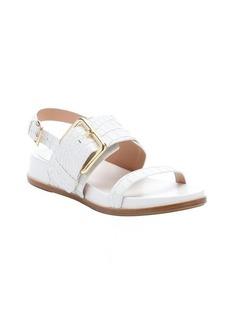 Sigerson Morrison bone croc-embossed leather 'Solar' buckle sandals