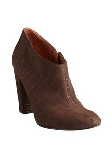 Sigerson Morrison brown lame crocodile-embossed suede 'Gisele' ankle boots