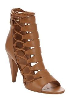 Sigerson Morrison camel leather 'Magola' pyramid heel gladiator sandals
