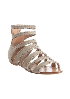 Sigerson Morrison dark taupe strappy flat sandals