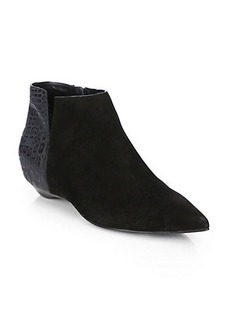 Sigerson Morrison Gabrielle Suede & Leather Ankle Boots