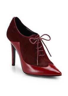 Sigerson Morrison Gisa Calf Hair & Patent Leather Booties