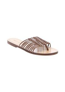 Sigerson Morrison light brown leather 'Bobi' thong sandals