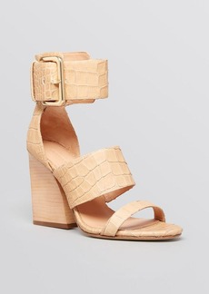 Sigerson Morrison Open Toe Ankle Strap Sandals - Poker 2 High Heel