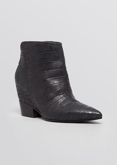Sigerson Morrison Pointed Toe Wedge Booties - Aerial
