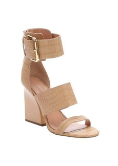 Sigerson Morrison sand croc-embossed leather 'Poker 2' sandals