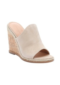 Sigerson Morrison visone nubuck 'Vala' slip-on wedge sandals