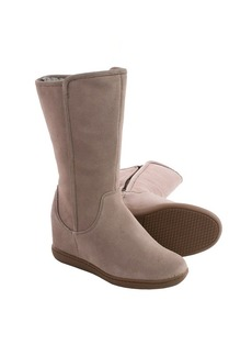 Skechers Plus 3 Pulley Suede Boots - Hidden Wedge Heel (For Women)