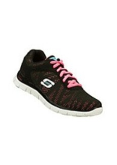 "Skechers® Sport ""First Glance"" Athletic Sneakers - Black/Hot Pink"