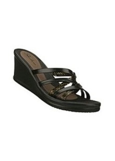 "Skechers® USA ""Tangled"" Casual Wedge Sandals - Black"