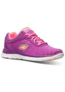 Skechers Women's Flex Appeal First Glance Memory Foam Running Sneakers from Finish Line