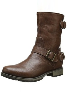 Skechers Women's Mid 3 Buckle Motorcycle Boot