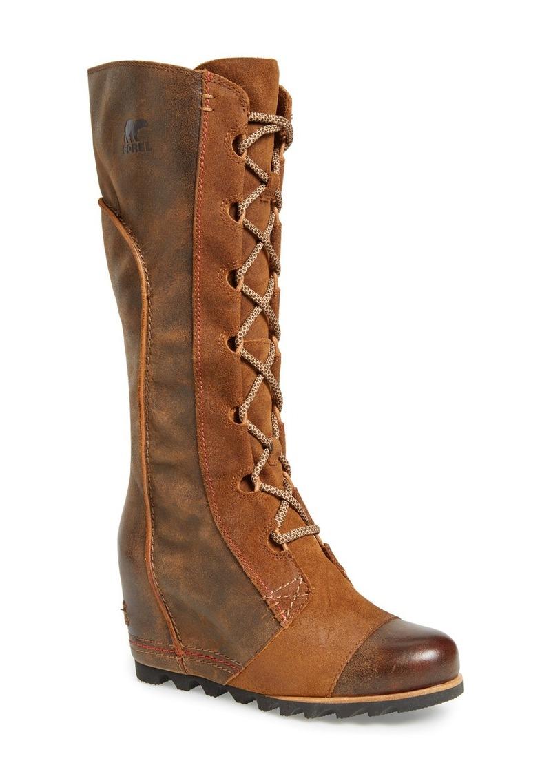 sorel sorel cate the great waterproof wedge boot