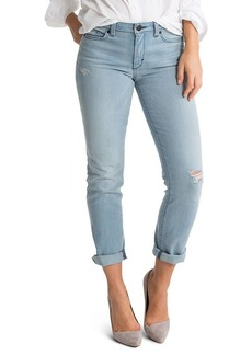 SPANX® Denim Cropped Slim Boyfriend Jeans in Faded Blue