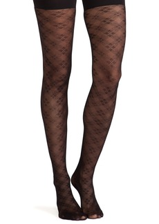 SPANX Floral Check Tights