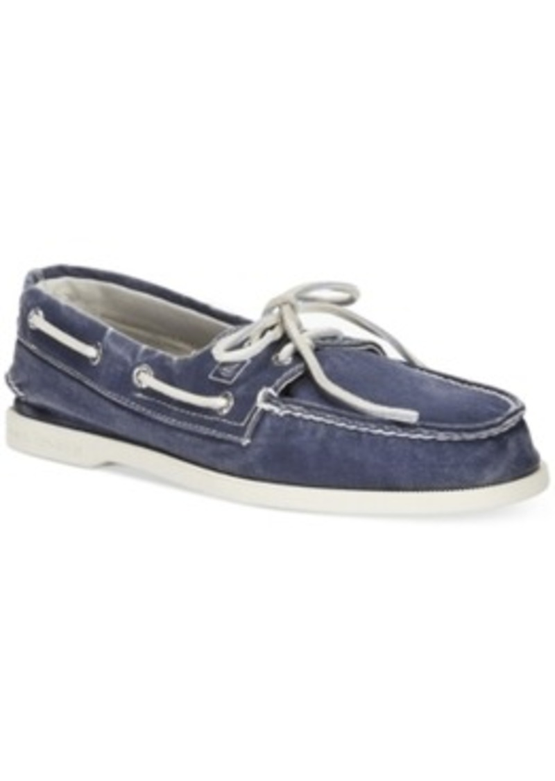 sperry top sider sperry s a o 2 eye salt washed canvas