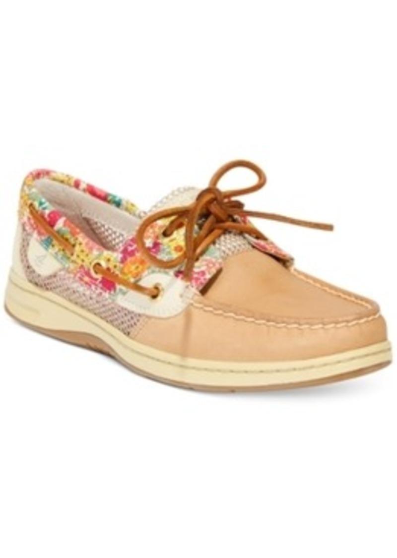 Mens Floral Boat Shoes