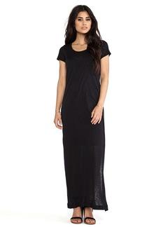 Splendid Always Tee Maxi Dress in Black