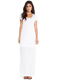 Splendid Always Tee Maxi Dress in White