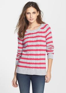 Splendid Cable Knit Stripe Pullover