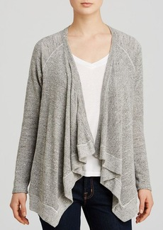 Splendid Cardigan - Loose Knit Drape Front