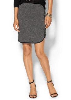 Splendid Faux Leather French Terry Skirt