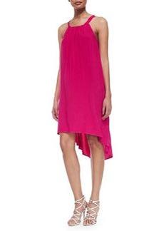Splendid High-Low Shift Dress, Raspberry