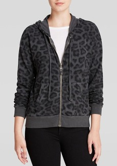 Splendid Hoodie - Distressed Leopard