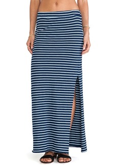 Splendid Indigo Dye Maxi Skirt in Blue