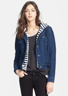 Splendid 'Indigo' Knit Hood Denim Jacket (Nordstrom Online Exclusive)