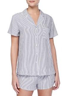 Splendid Intimates Classic Striped Short Pajama Set, Black/White