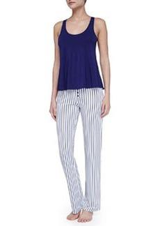 Splendid Intimates Rope Stripe Summer Pants, Navy/White