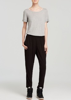 Splendid Jumpsuit - Open Back Colorblock Short Sleeve